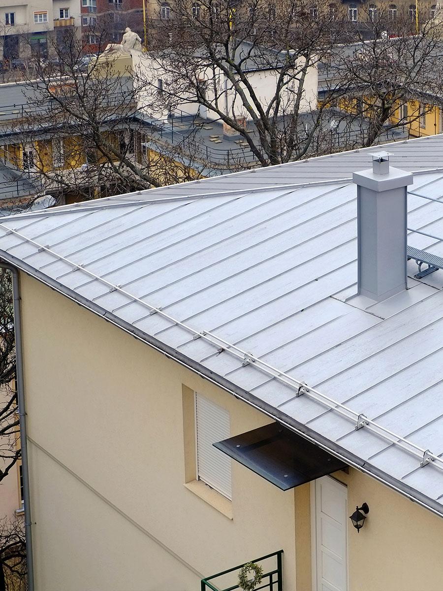 Couverture métallique joint debout
